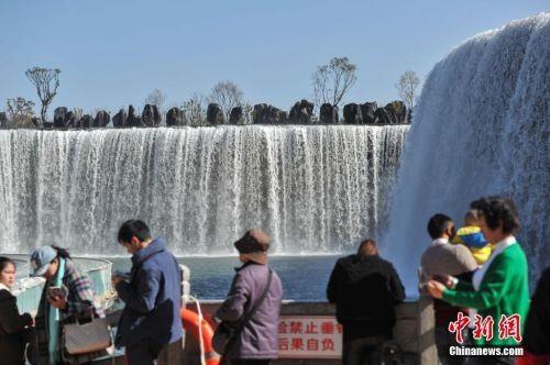 中guo最大人工瀑布现昆明