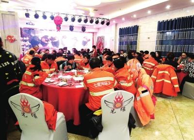 七里河 企业献爱心环卫工人吃上免费餐