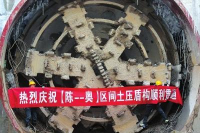 陈官营/奥体中心至陈官营盾构区间右线隧道贯通