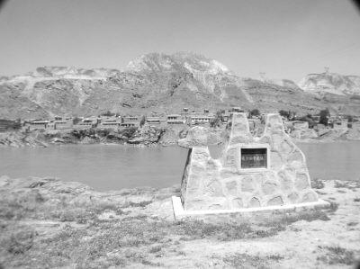 青石津位于西固区达川乡,毗邻永靖县小寺沟,在湟水入黄河处.从
