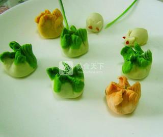 """五彩饺子闹""""中秋""""的做法步骤:5"""