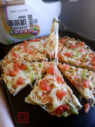 面条披萨的做法步骤:18