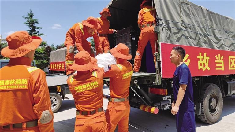 甘肃省森林消防总队驰援河南救灾一线