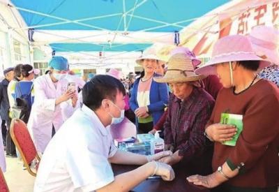 榆中县帮扶单位送医送药进乡村